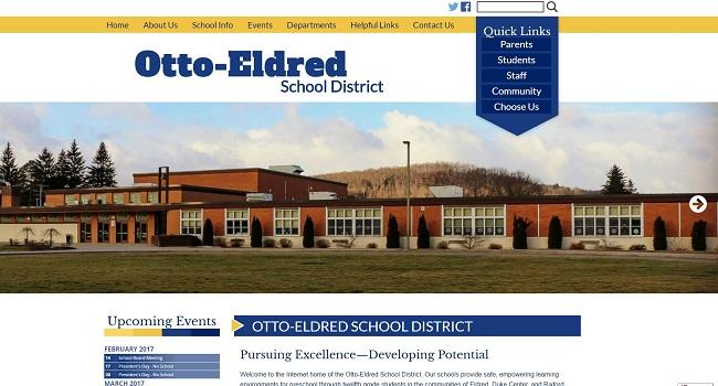 School Website Design: Otto-Eldred School District
