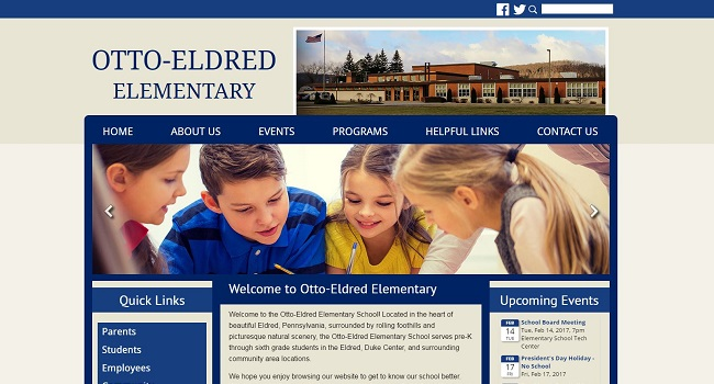 Elementary School Website Design: Otto-Eldred Elementary School