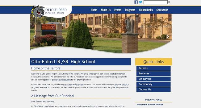 Jr/Sr High School Web Design: Otto-Eldred JR./SR. High School