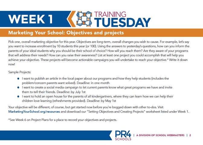 Week 1 Tuesday