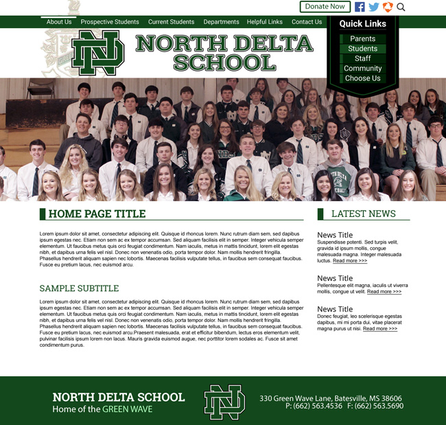 Customized School Template: North Delta School