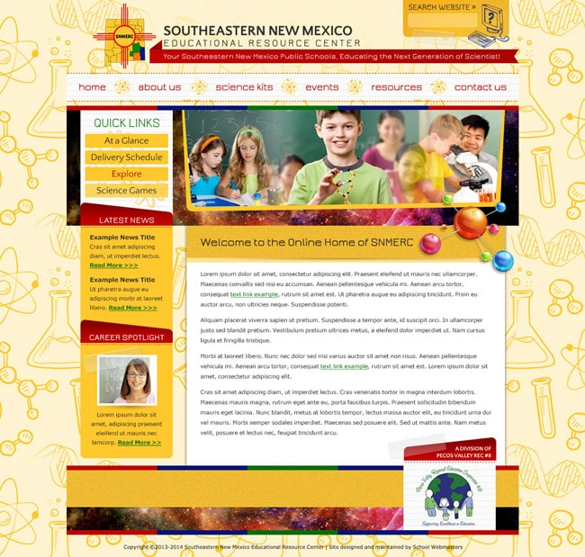 Educational Website Template: SERNM