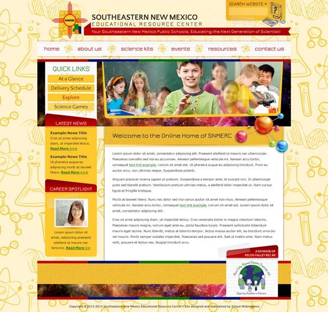 Educational Website Template: SERNM