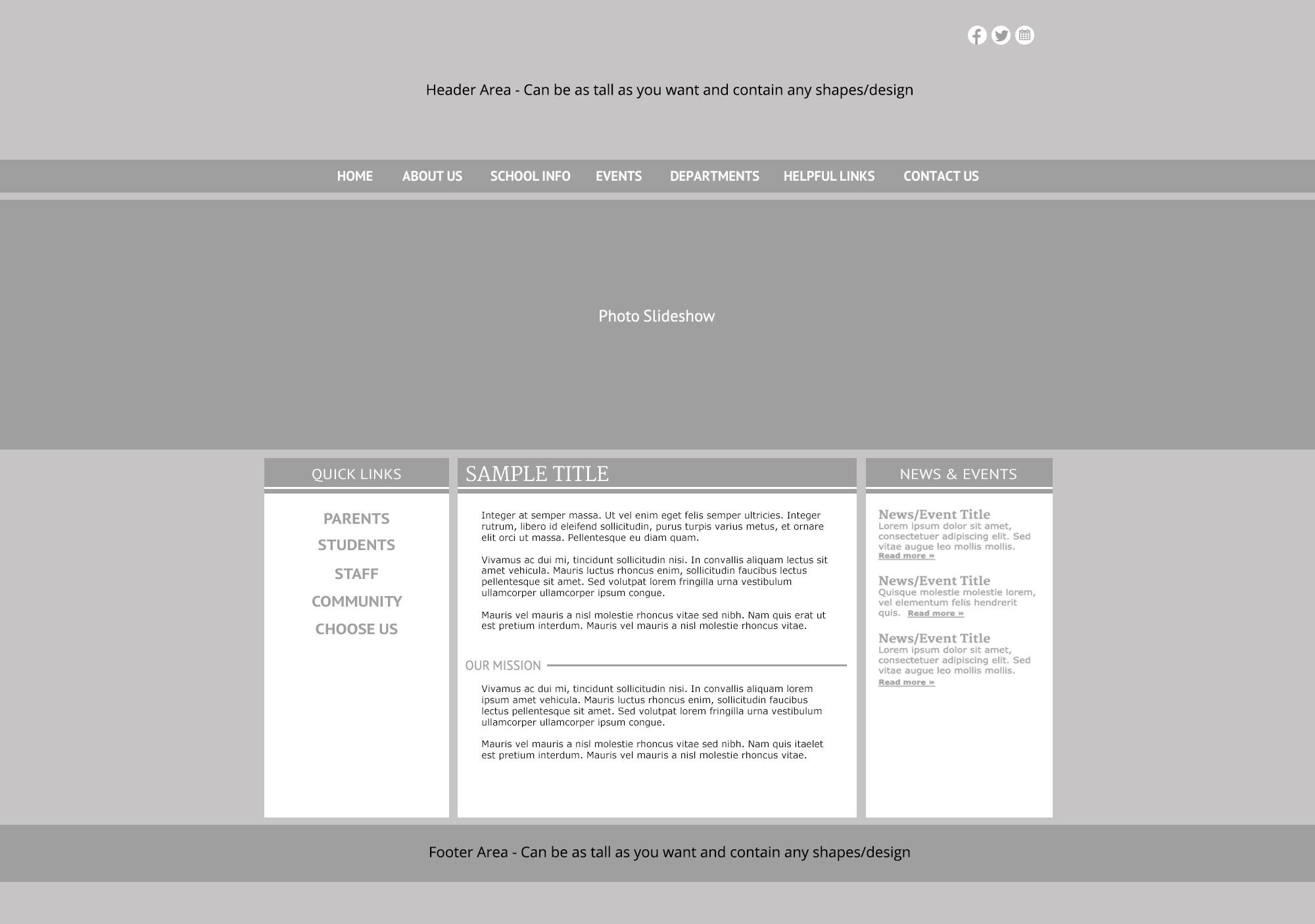Custom Template School Websites 2