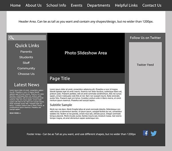 Custom Template School Websites 3a
