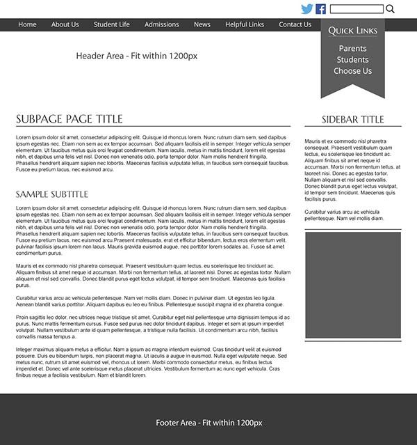 Custom Template School Websites 5b