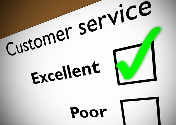 Customer Service with Excellence box checked