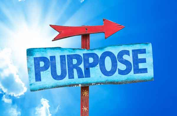 Your blog purpose (sign with red arrow)