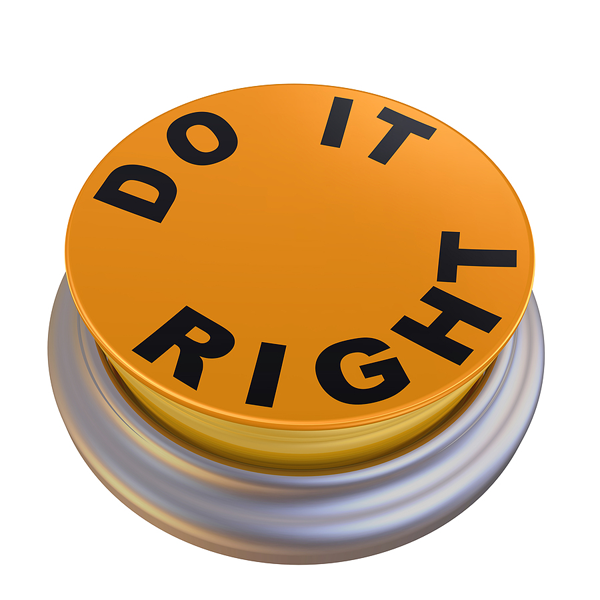 Do it right button