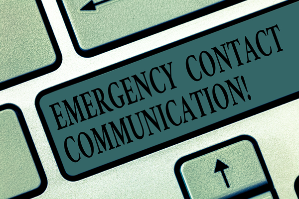 emergency contact information button on keyboard