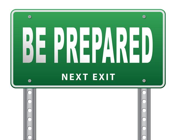 be prepared road sign