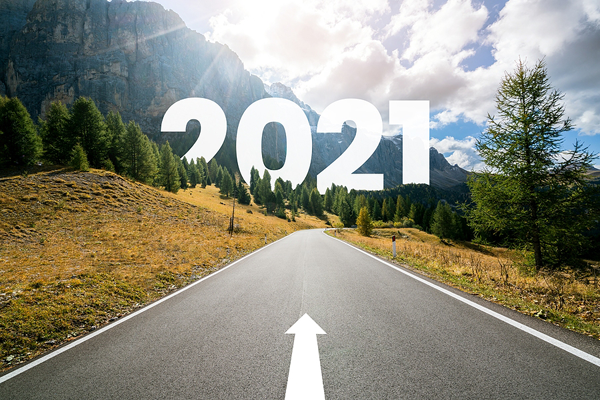 road into the future of 2021