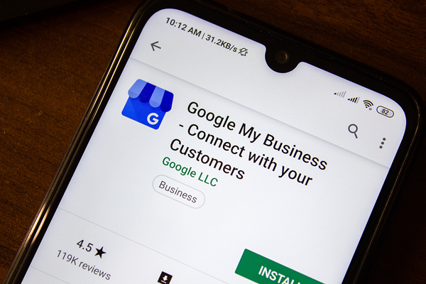 Google My Business mobile version
