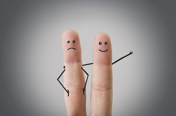 buddy system image represented by two fingers