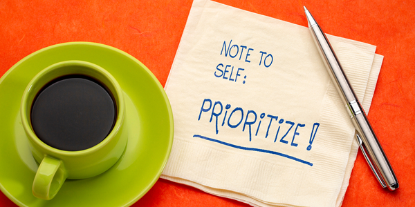 note to self: prioritize