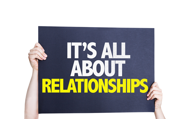 Sign with the words All About Relationships