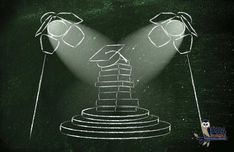 Image of spotlight on educational winners