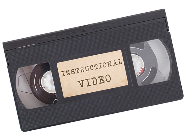 Instructional video as VHS