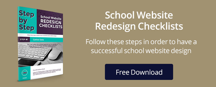 School Website Redesign Infographic & Checklist Offer
