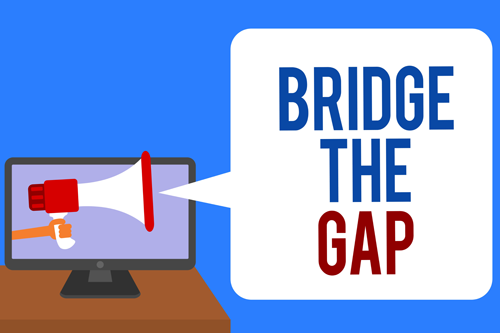 bridge the gap speech bubble