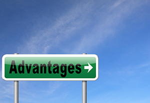 Image of road sign with the word advantages representing school marketing advantages