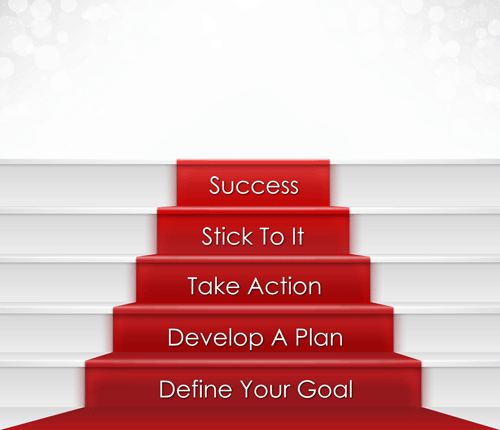 Image of red carpet showing steps to school marketing success