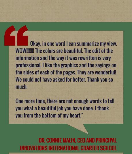Dr. Connie Malin Quote