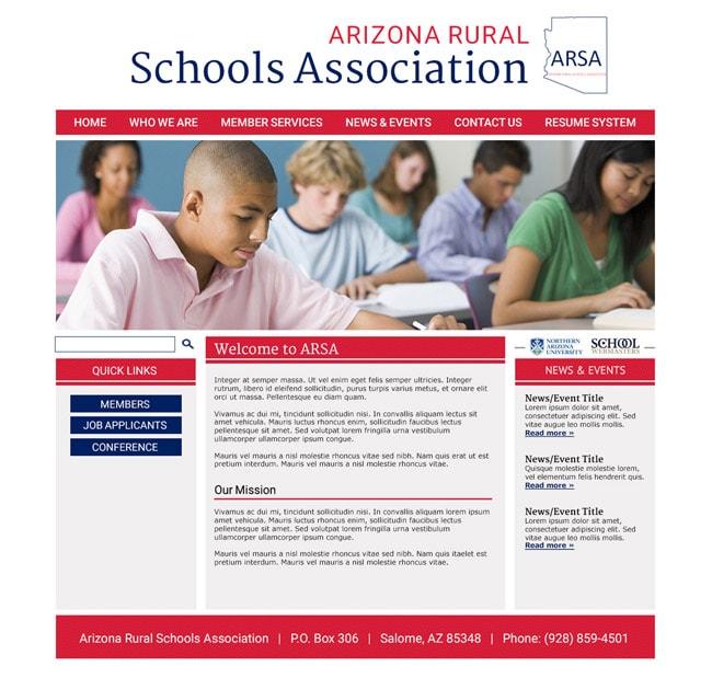 Ed Organization Website Template: ARSA