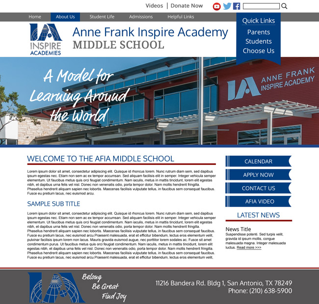School Site Template: Anne Frank Inspire