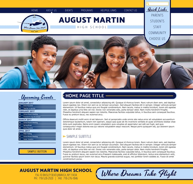 Community School Template: August Martin High School