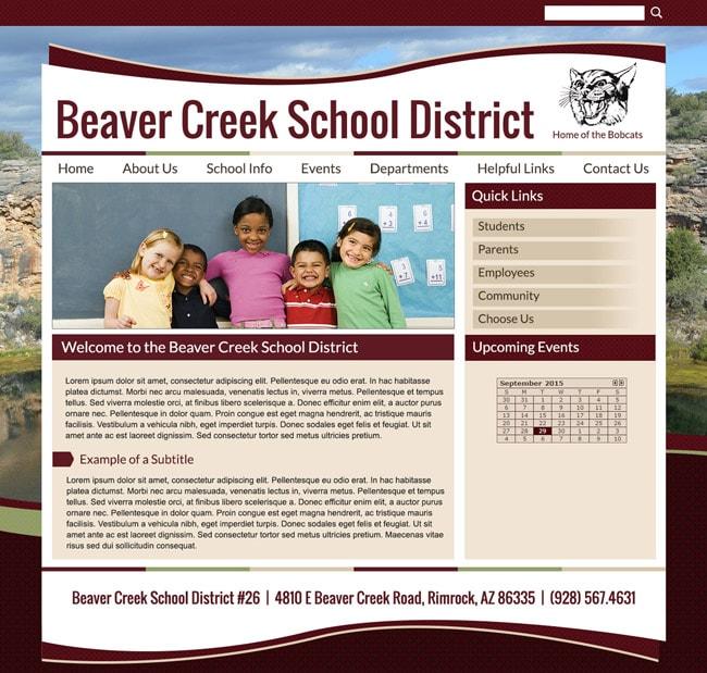 School District Template Website: Beaver Creek School District