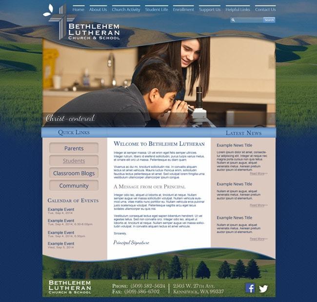 Website Template for Lutheran School: Bethlehem Lutheran