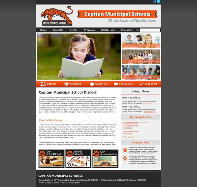 Website for Districts: Capitan