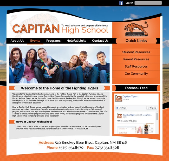 District School Website: Capitain High School