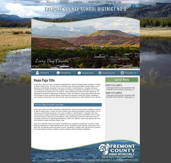 Website for Districts: Lake Lehman School District