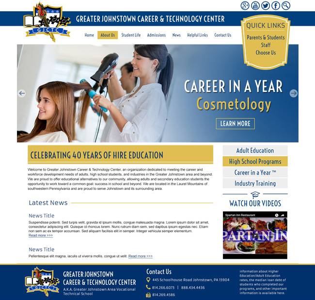 Career and Workforce School Template: Greater Johnstown Career & Technology Center