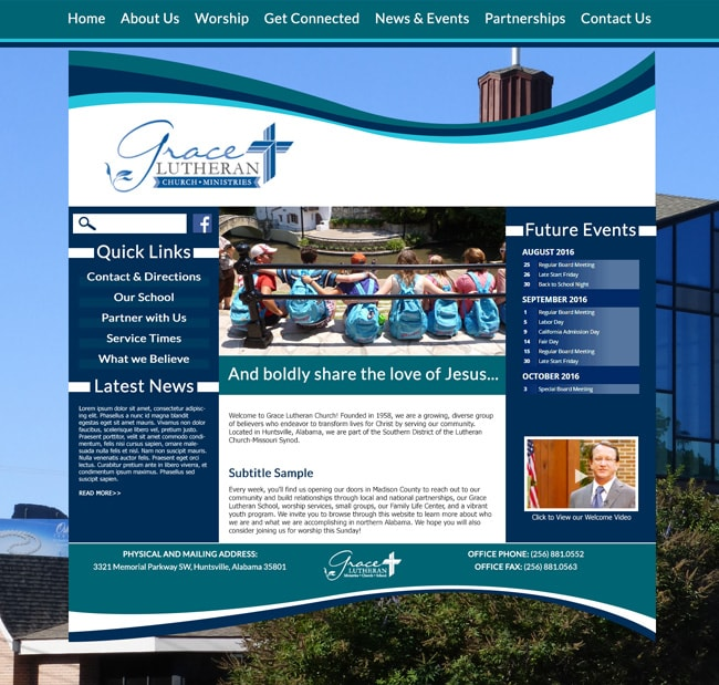 Website Template for Lutheran Church: Grace Lutheran Church