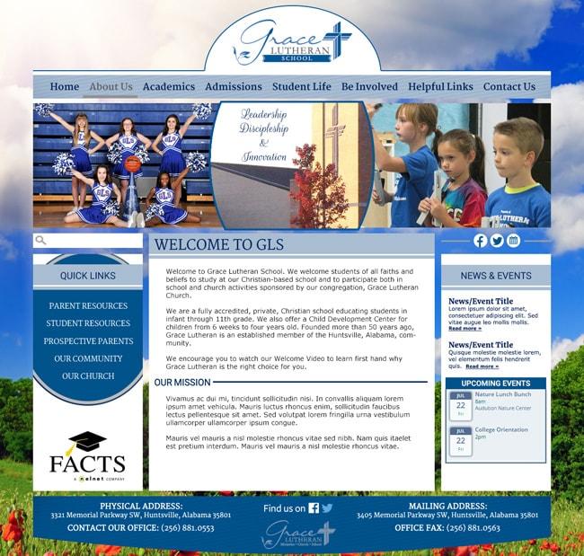Website Template for Lutheran School: Grace Lutheran