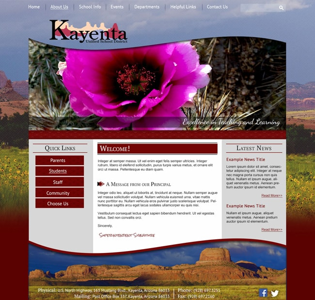 District Website Template: Kayenta Unified School District