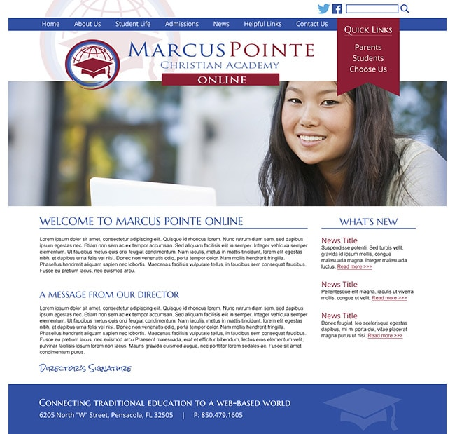 Customized School Template: Marcus Pointe