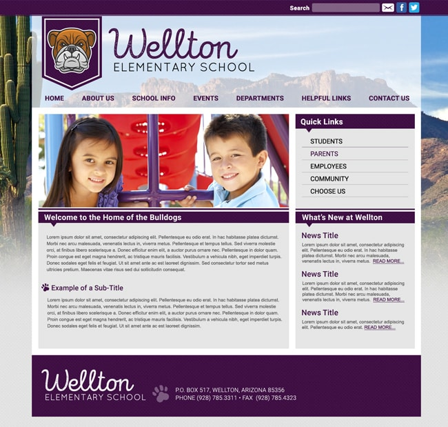 High School Website: Wellton High School