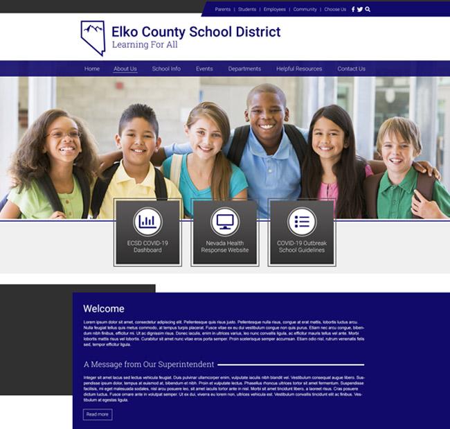 Customized District Website Elko School District