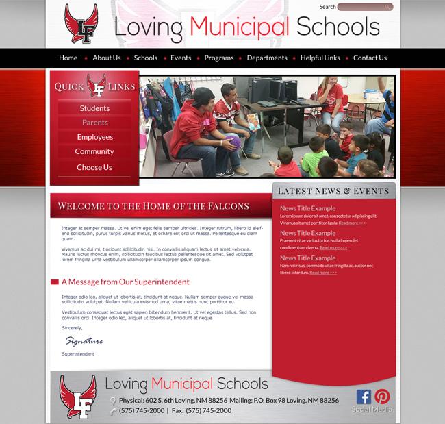 School Website Template: Loving