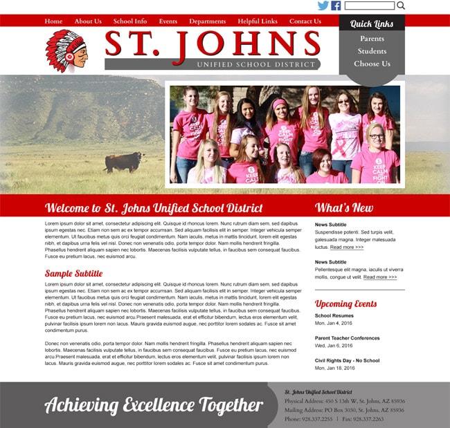 School District Website: St. Johns USD