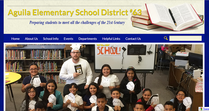 School Website Design: Aguila Elementary