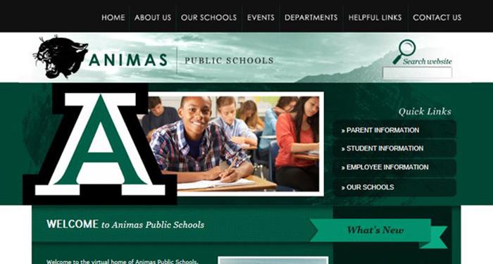 School Web Design: Animas Public Schools