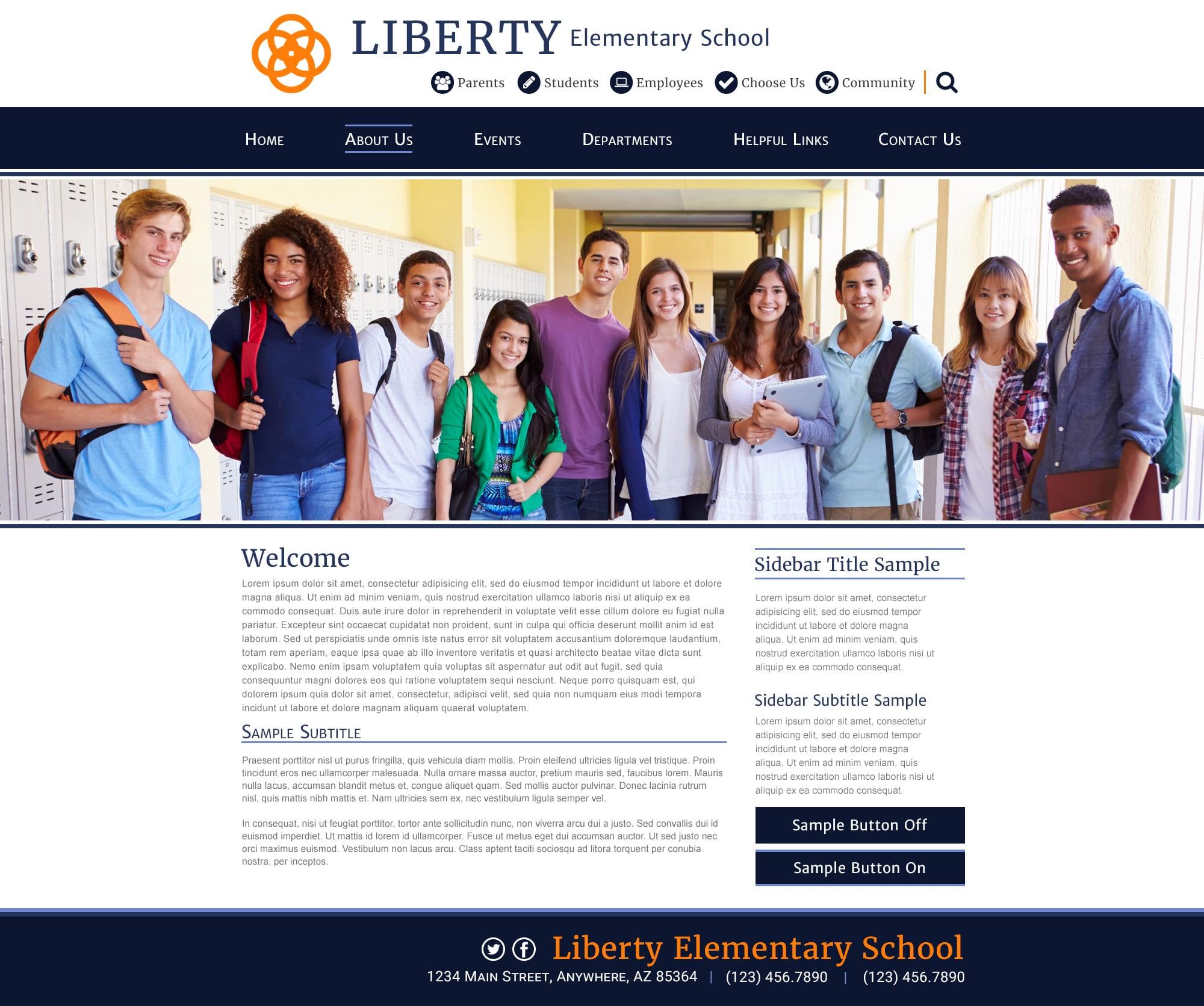 School Website Templates For Responsive School Sites School Websites