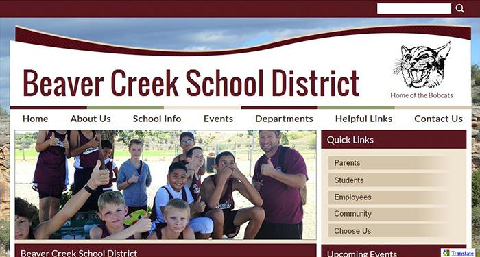 School Web Design: Beaver Creek School District