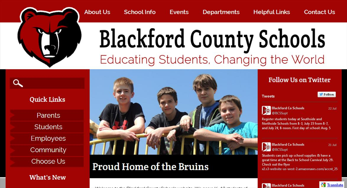 School Website Design: Blackford County Schools