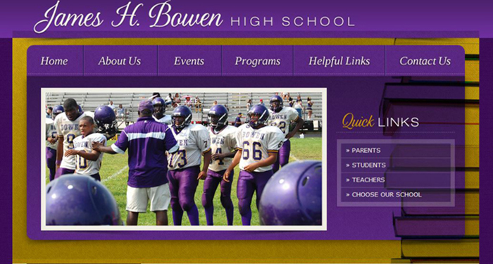 Best School Website Design: Bowen High School
